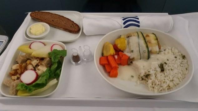 Finnair Fish Dinner