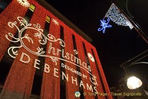 Debenhams at Christmas, London