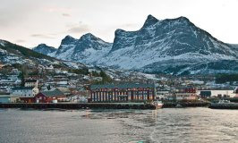 Hurtigruten Boat at Port