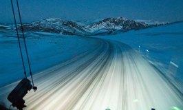 Nordkapp Road in Winter