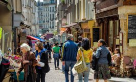 Rue Mouffetard – A Lively and Busy Food Street