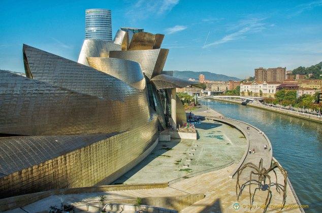 Bilbao Nervion River and Guggenheim Museum