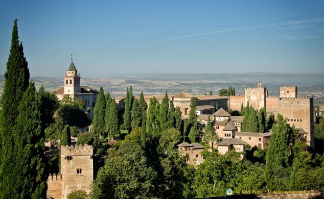 View of La Sabika and the Alhambra from the Generalife