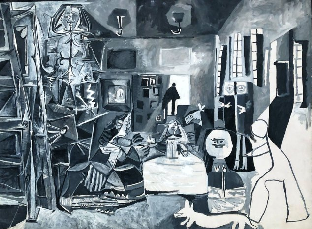 "Picasso's interpretation of Velázquez's ""Las Meninas"" exhibited at Museu Picasso."