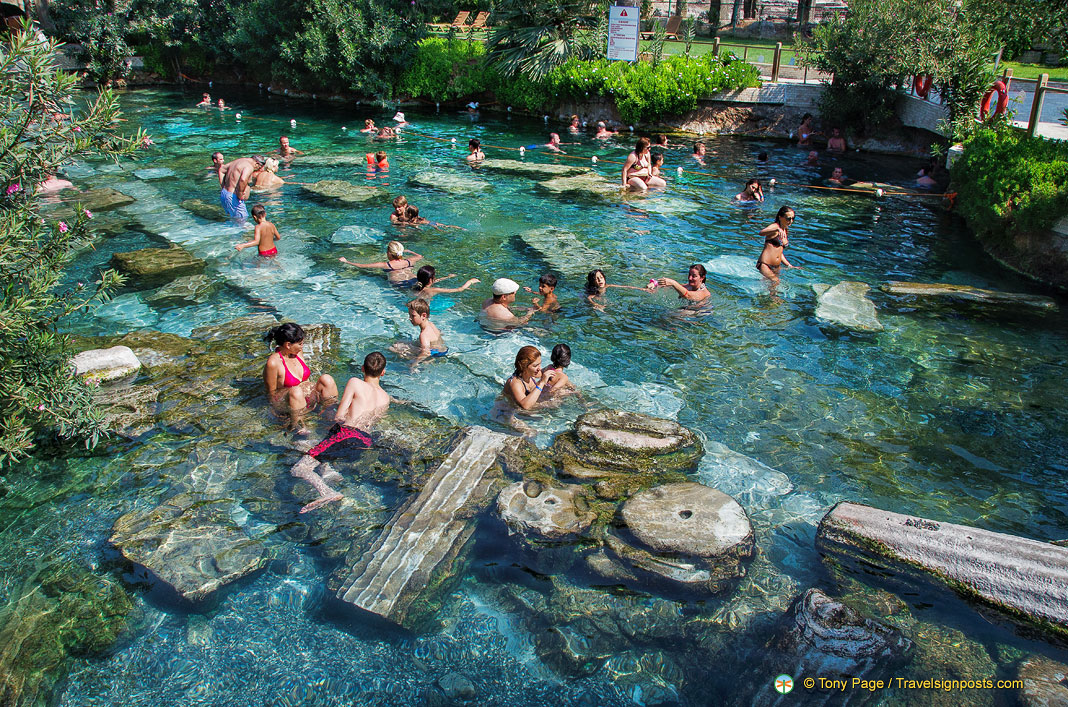 Pamukkale Antique Pool - Swimming in Cleopatra's Pool