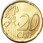 20 cent coin (front)