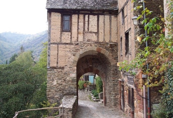 On the Rue Charlemagne Le Puy to Conques