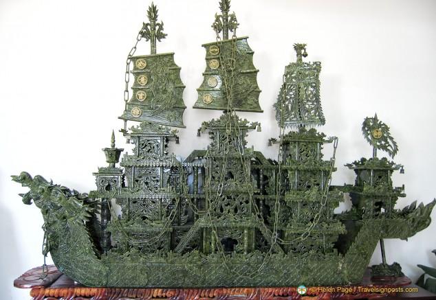 Jade Sailing Ship