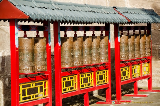 Puning Temple Prayer Wheels