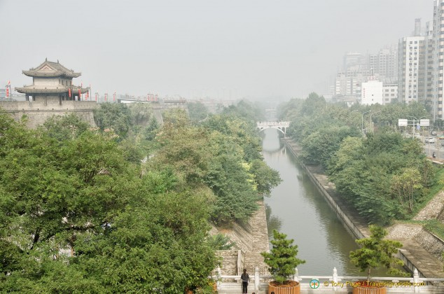 Xi'an City Wall moat