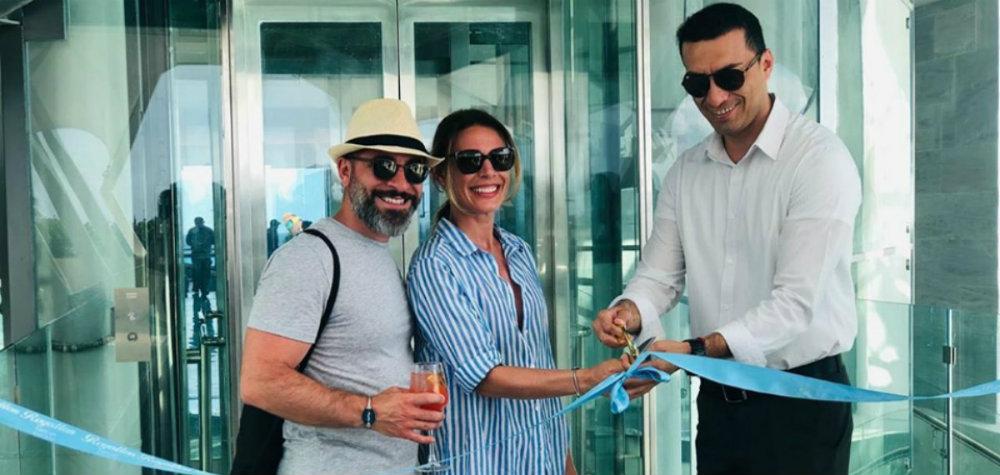 Panoramic Elevator Royalton Cancun Suites Ribbon Cut TravelSmart VIP