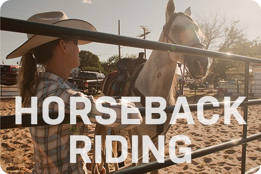 Horseback riding demonstration at the Southern New Mexico State Fair and Rodeo