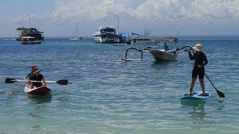Paddeln auf der Nusa Lembongan