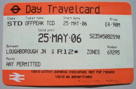 london paper travelcard