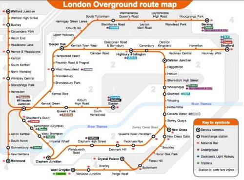mappa london overground