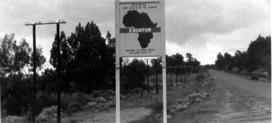 Equator Sign Board