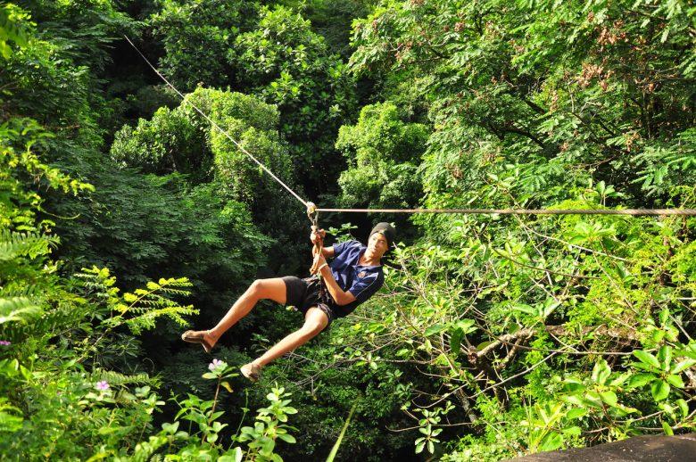 1 zip lining Iga Motylska the seychelles adventure