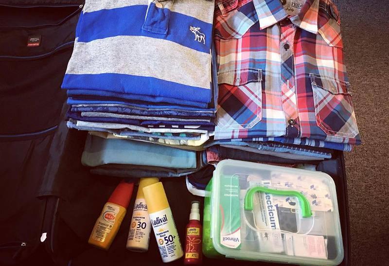 packing luggage