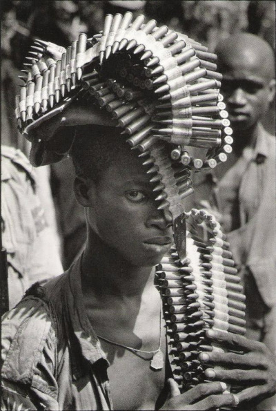 Igbo soldier during the Nigerian Civil War, November, 1968