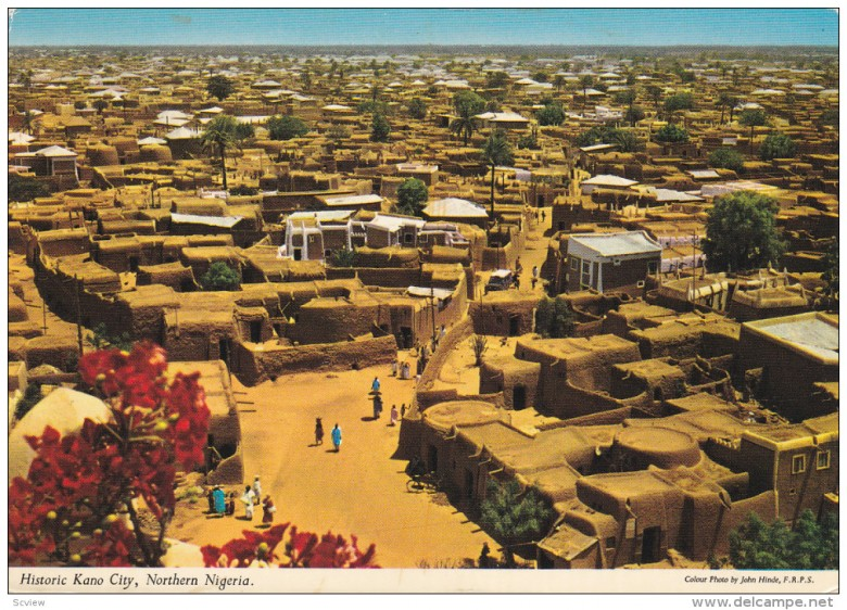 KANO CITY, Nigeria, 1950-1970's; General View Of Historic Kano City