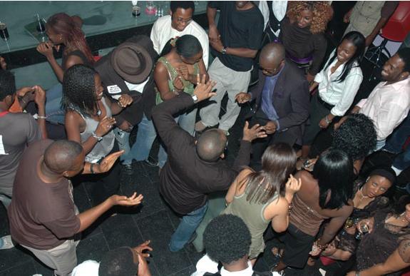 Nigerians partying hard