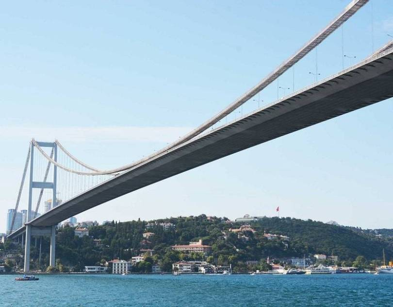 Turkey Bridge connecting Europe Asia