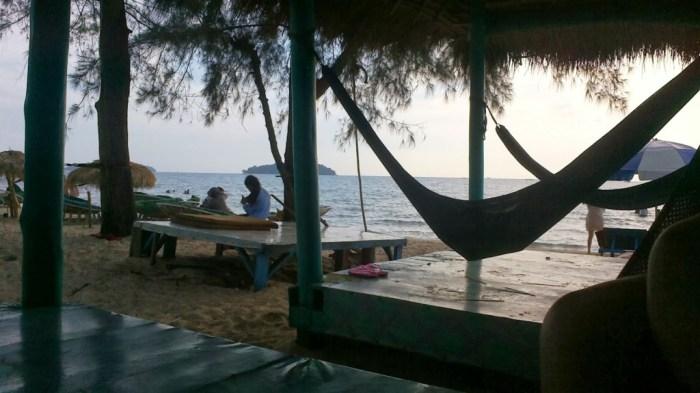 In spiaggia a Sihanoukville, Cambogia