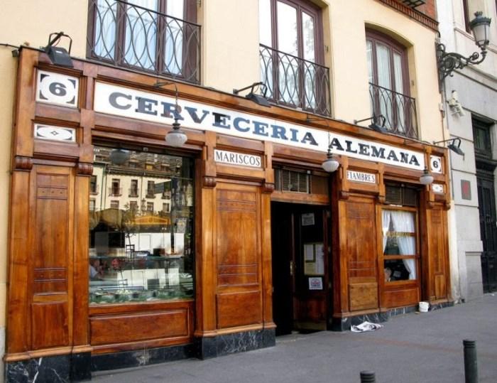 La Cerveceria Alemana, in Plaza Santa Ana a Madrid