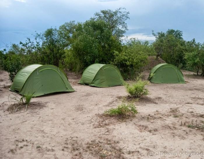 Le nostre tende nel Liwonde National Park, in Malawi