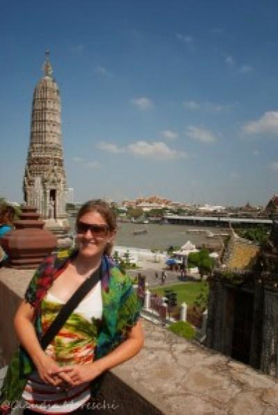 Bangkok vista dall'alto del Wat Arun