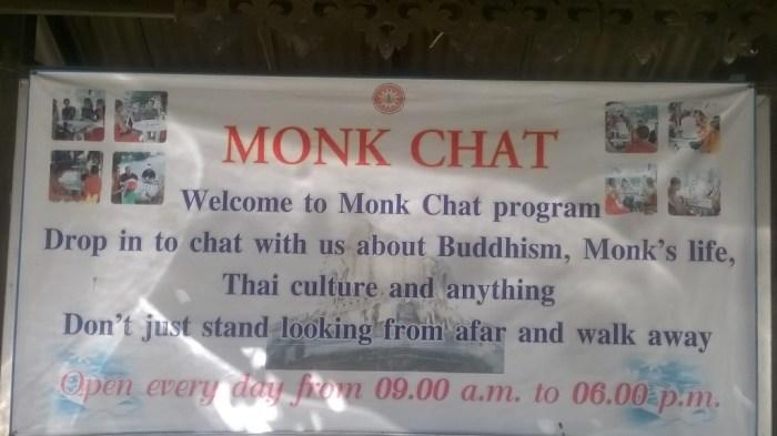 A Chiang Mai è possibile fare conversazione con i monaci