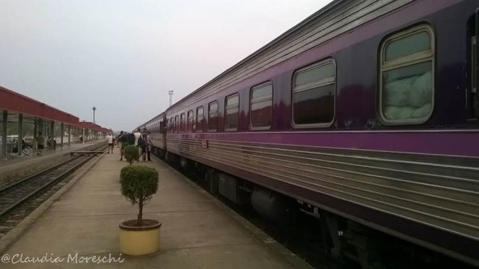 Il night train per Bangkok in partenza da Nong Khai