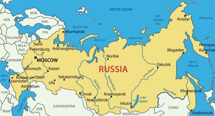 cartina russia