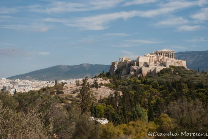 L'Acropoli vista dalla Collina della Pnice