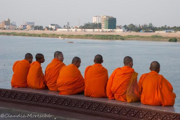 Lungo il Mekong a Phnom Penh