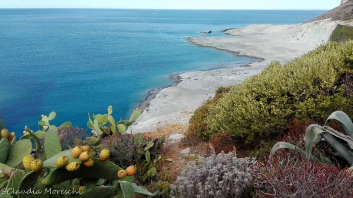 La spiaggia Cane Malu a Bosa (OR)