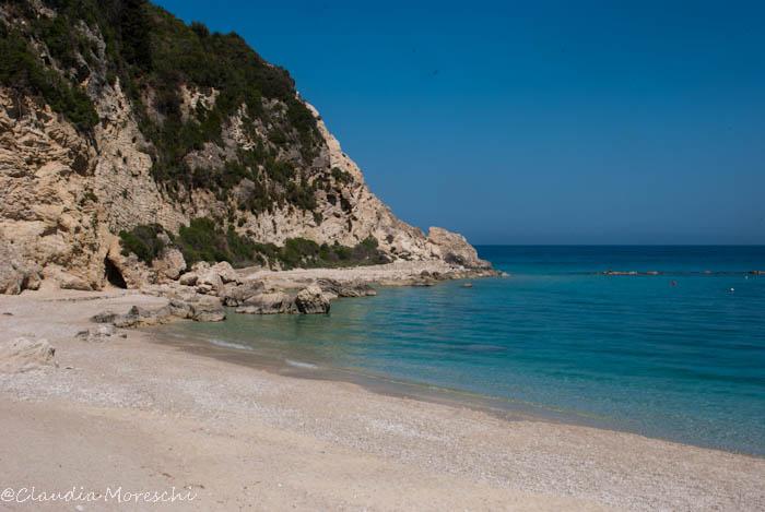 La spiaggia di Agios Nikitas, sulla costa occidentale di Lefkada