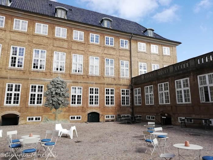 Il cortile del Museo Nazionale di Copenhagen