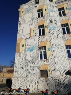 Murales in centro a Vilnius