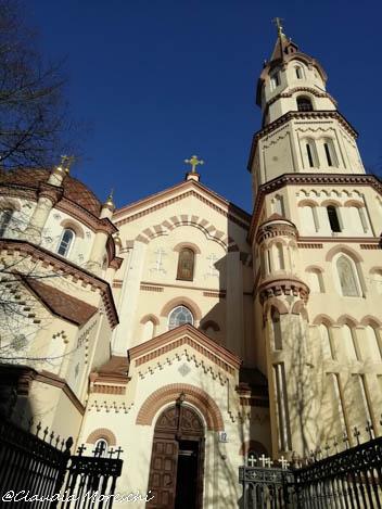 Chiesa in centro a Vilnius