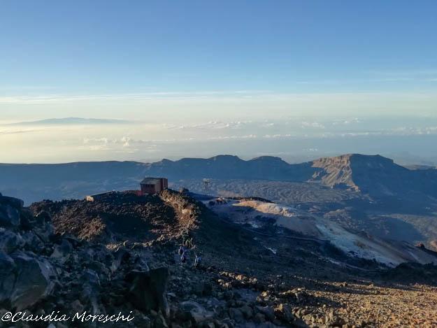 La stazione di arrivo del teleferico sul Teide