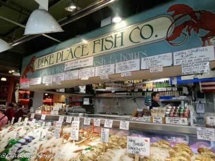 Stand di pesce al Pike Place Market