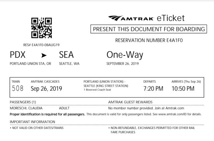 biglietto treno americano