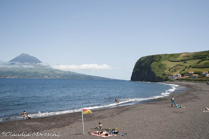 La spiaggia di Almoxarife, sull'isola di Faial