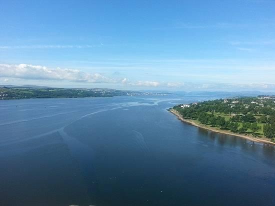 Looking out to sea from dumbarton castle