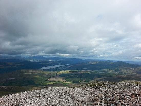 Looking north from schiehallion