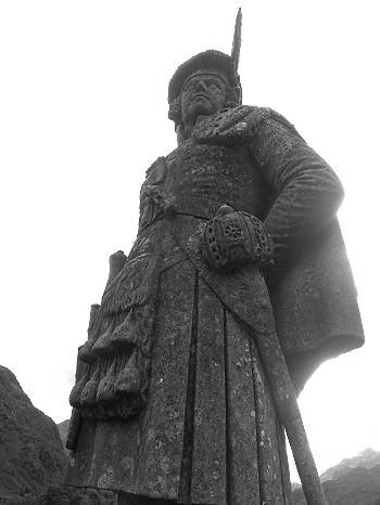 glenfinnan monument and the jacobite soldier.