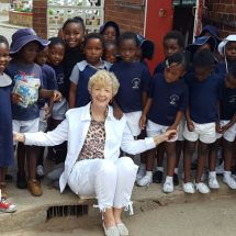 With preschoolers in Zimbabwe.