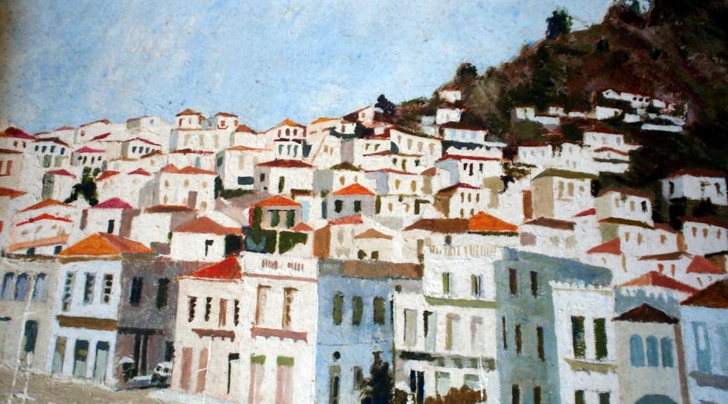 Whitewashed hilltown in Europe