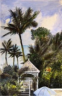 Australian Artist Noel Jacksons's painting of Mission Beach, Queensland